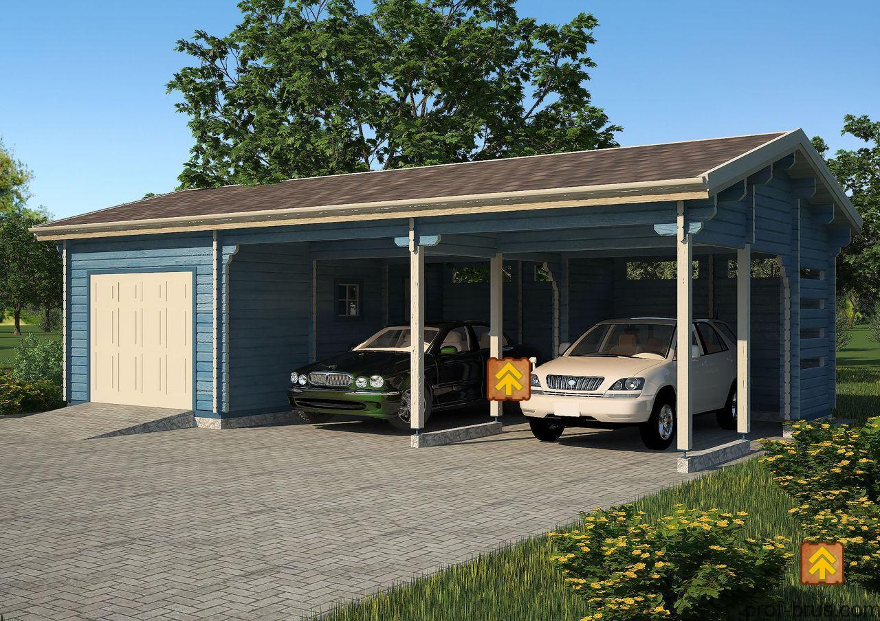 гараж с навесом на две машины фото акции диван берг